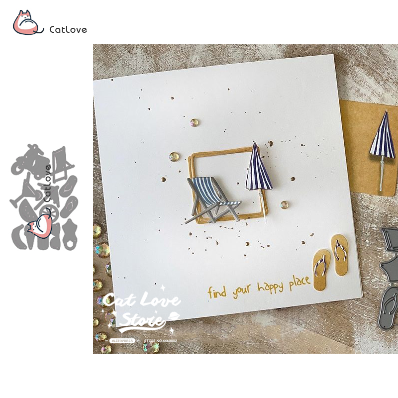Summer Item Series Metal Cutting Dies Stencils For DIY Scrapbooking Paper Card Decorative Craft Dies Embossing Die Cuts New 2019