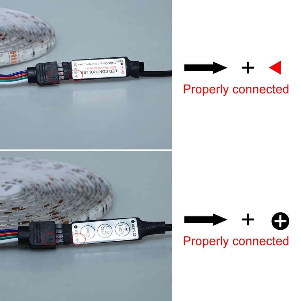 Ночные лампы SMD5050 RGB DC5V Светодиодные ленты лента Диодная гибкий свет 60 светодио дный s/m Водонепроницаемый USB светодио дный освещения 50 см 100 см 200 см