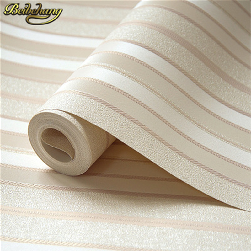 Beibehang Papel De Parede. Bedroom Modern Wallpaper Striped PVC Wallpaper Stripe Wall Paper Background Wall Wallpaper For Living