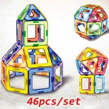 46 шт. большой размер Магнитный конструктор магнитные блоки строительные игрушки набор моделирования и Buillding игрушки для детей детские подарки