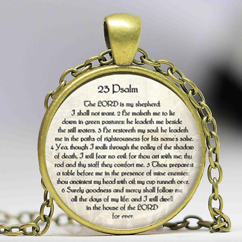 23. PSALM SCHMUCK Schrift Halskette Psalm 23 Halskette Bibel Vers - Modeschmuck - Foto 2