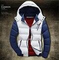 2016Men's boutique no inverno qualidade slim fit-quente de algodão acolchoado roupas/Masculino alta-grade jaqueta com capuz quente/casaco de lazer dos homens