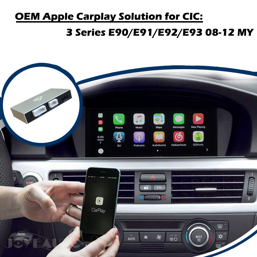 Aftermarket Adaptateur Multimédia 3 série E90 E91 E92 E93 CIC 2008 09 10 11 12 OEM Apple Carplay Android Auto rénovation pour BMW