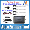 Auto Reverse Sensor Wire Car Asistant Backup Radar With 4Sensor+Double CPU LED Display Reverse Parking System Car Parking Sensor