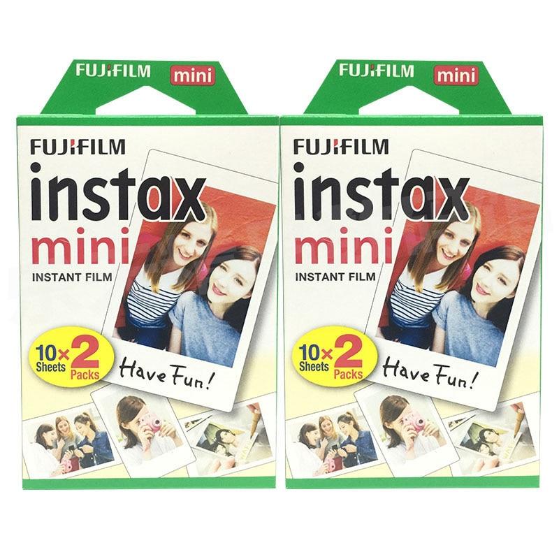 New Original Fujifilm Instax Mini 9 Mini 8 Film 2 Packs 40 Sheets 3 Inch Film Photo Paper For 7s 90 25 Share SP-1 Instant Camera mu0999 kosovo 2013 female celebrity film actress stamp 3 new 1116