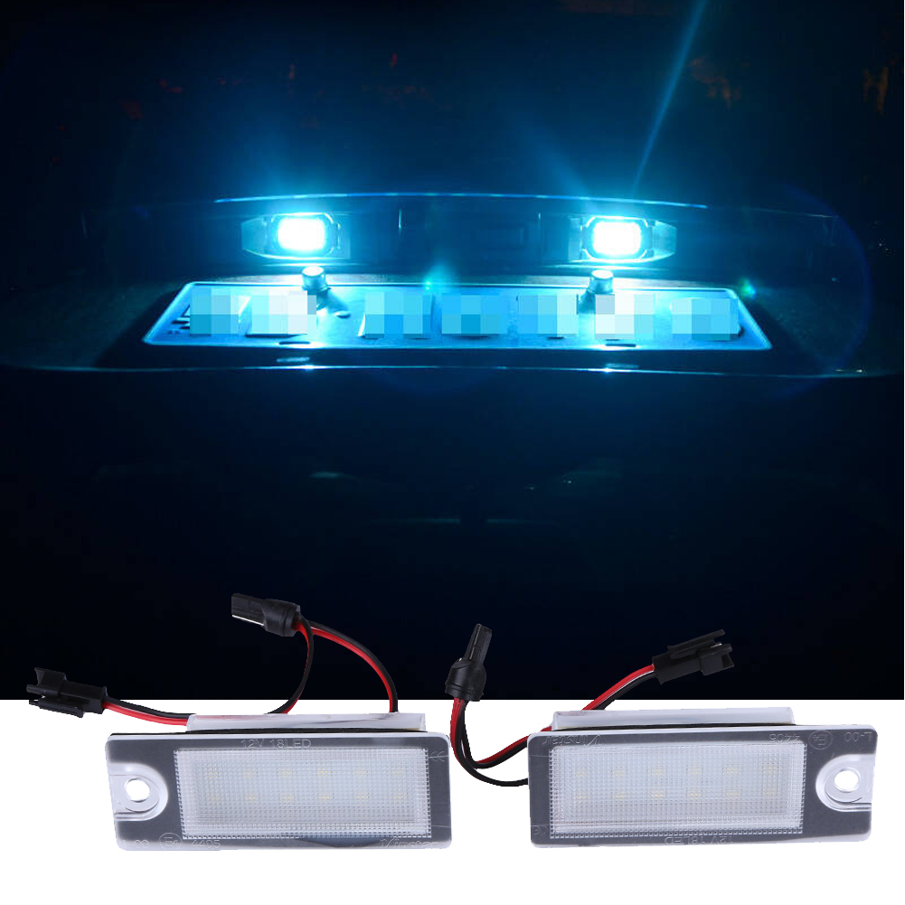 2Pcs V70 XC70 S60 S80 XC90 LED license plate light Car styling car led light for Volvo 12v Auto parts accessory Car Led light 2pcs 12v 31mm 36mm 39mm 41mm canbus led auto festoon light error free interior doom lamp car styling for volvo bmw audi benz
