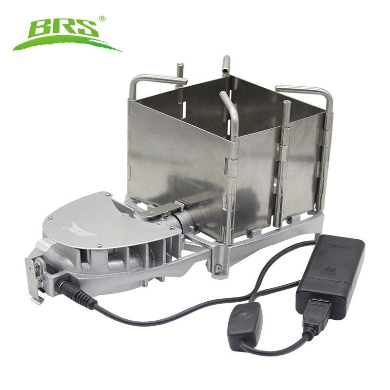 BRS 6000W extérieur poêle à bois poêle à bois pliable bois de chauffage four à charbon de bois cuisinière BBQ électronique ventilateur poêle BRS-116