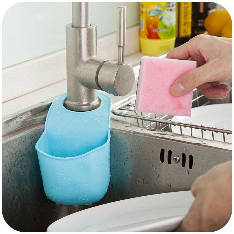 anaqueles mosquetn creativo estante fregadero moda esponjas de cocina que cuelga sencilla unidades de drenaje en bastidores y soportes de hogar y jardn