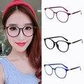 2017 Mujeres ronda oval gafas gafas de marcos de alta calidad peso ligero color sólido llano llanura gafas de diseño retro de la vendimia