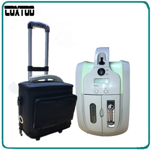 COXTOD battery 1-5LPM portable oxygen concentrator/oxygen generator/mini oxygen concentrator JAY-1 for COPD/home/travel/car medical oxygen concentrator for respiratory diseases 110v 220v oxygen generator copd oxygen supplying machine