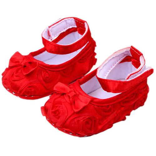 Bébé prewalker chaussures FLORAL bébé semelle souple premiers marcheurs fille en bas âge BÉBÉ chaussures