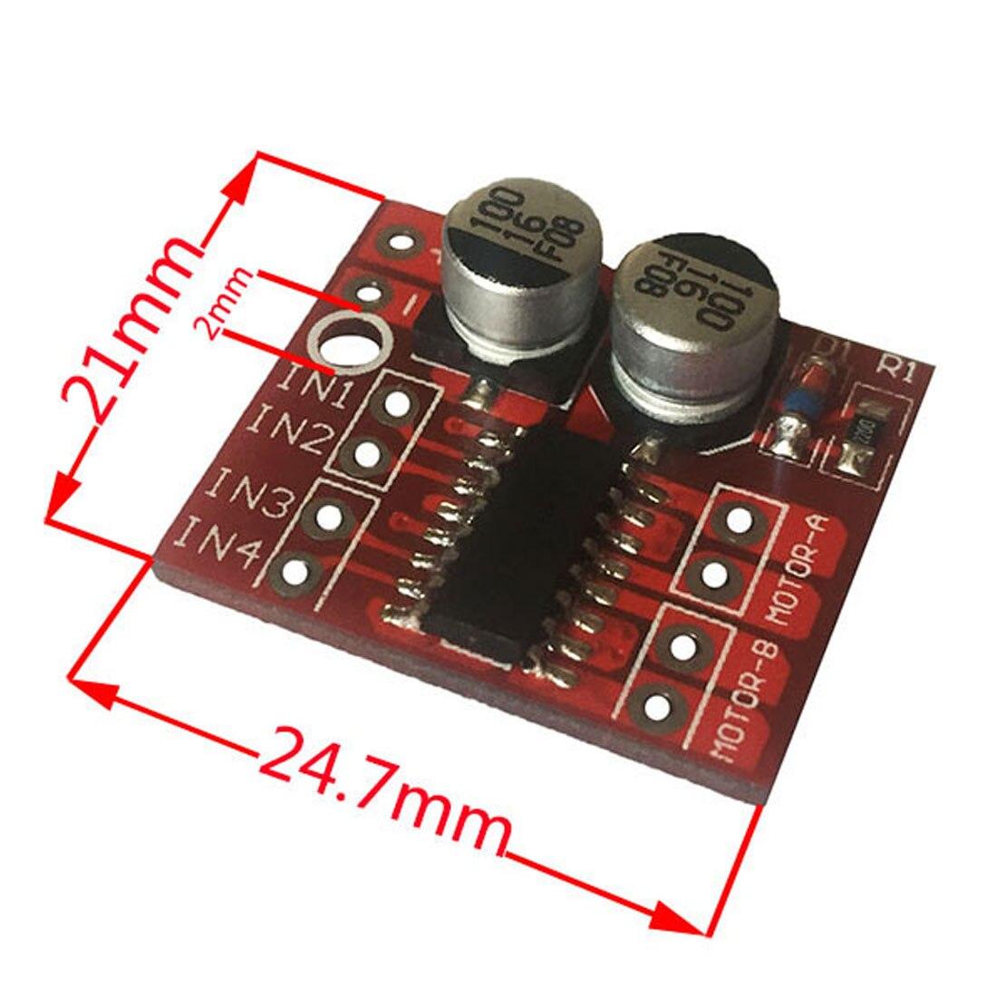 2-channel DC motor driving module Positive Inversion PWM Speed Mini Motor Dual H-bridge Stepper Motor Driver