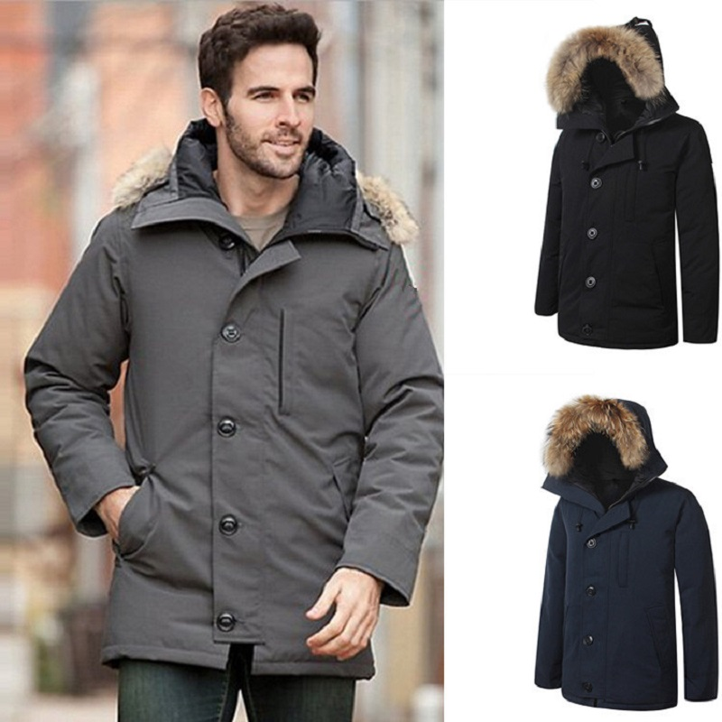 Down Jacket Canada Goose Trendy Thicken Warm Windproof Waterproof Men Long Section Cold Protection Hardy Comfortable Quality(China)