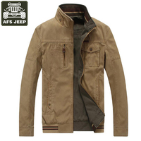 AFS JEEP Men S Jacket Windbreaker Denim Cotton Double Wear Army Military Jackets Winter Coat For