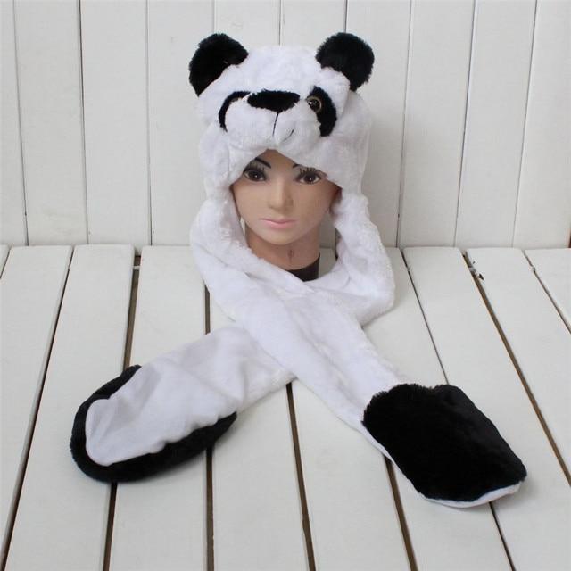 Men's Women's Hats For Winter Boots For Women  Hat Female Panda Bear Beanies Caps For Girl Gorros151044c