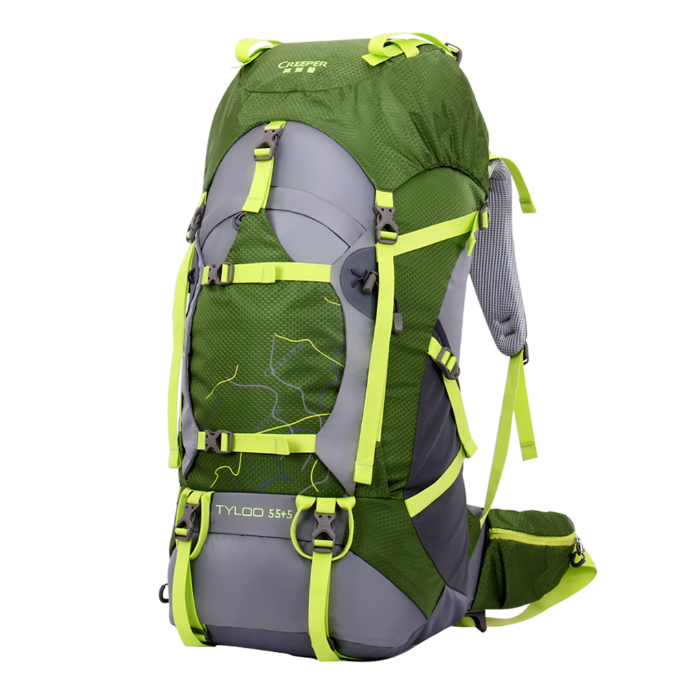 60L 50L Waterproof Backpack Travel Bag rucksack Outdoor Backpack Unisex climbing Bsgs Hiking camping bag Metal frame sports bags