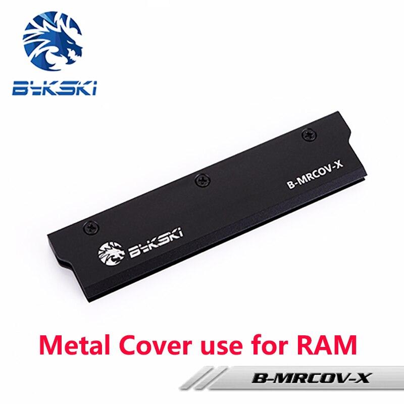 BYKSKI Full Metal Cover uso per RAM Radiatore Radiatore Copertura Dissipazione Del Calore Colore Nero Cover per Sistema di Raffreddamento a Liquido 1 pz