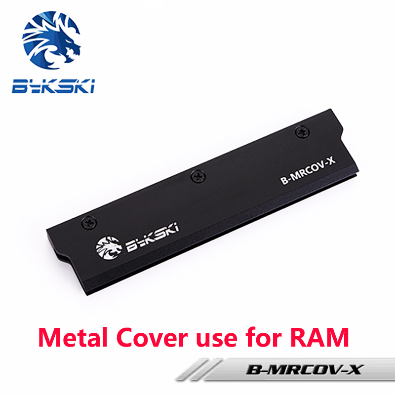 BYKSKI Full Metal Radiator Cover use for RAM Radiator Color Black Cover for Liquid Cooling System Heat Dissipation Cover 1pcs cpu cooling conductonaut 1g second liquid metal grease gpu coling reduce the temperature by 20 degrees centigrade