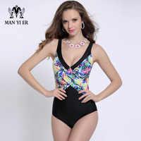 Badeanzug Sexy Frauen Floral Stickerei Backless einteilige Badebekleidung Monokini Plus Größe Bikini Bodysuit maillot de bain