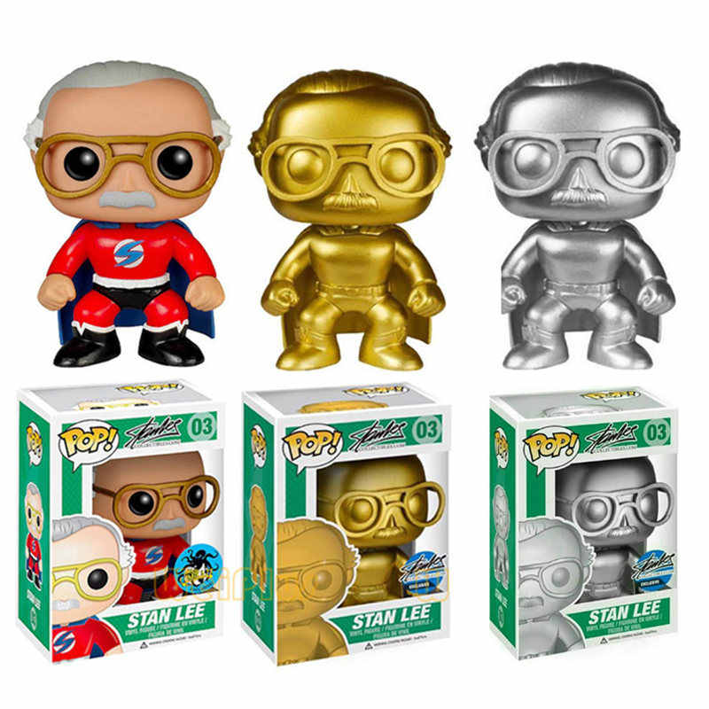 FUNKO POP NEW Style MARVEL Limited Edition Stan Lee #03 #01 Action Figures Collectible Model Toys for Children birthday gift