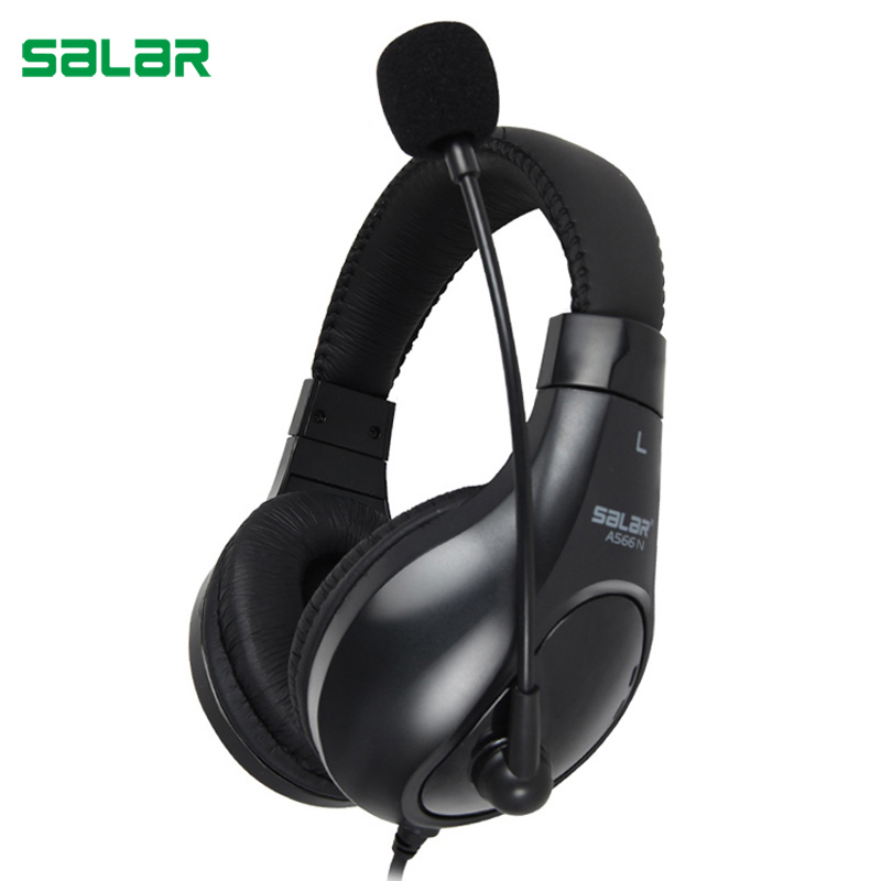 Salar A566N Gaming Headset 3.5mm Wired Headphones with Microphone Stereo Surround Headband for Computer PC Gamer salar t9 best gaming headset wired headband noise canceling headphones with microphone led light vibration for computer pc gamer