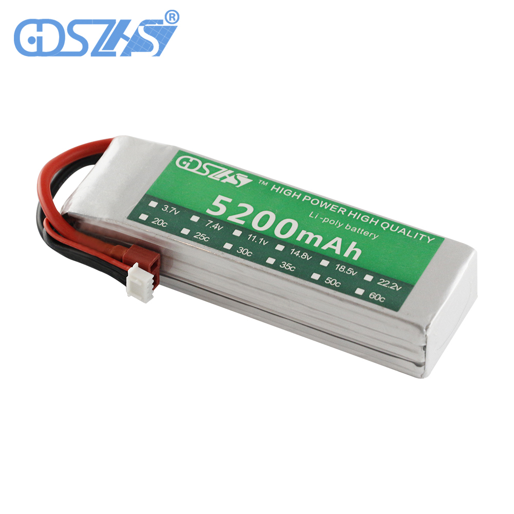 3s 30c 11.1v 5200mah airplane model battery aeromodeling battery model aircraft lithium polymer battery li-polymer drone battery 30a 3s polymer lithium battery cell charger protection board pcb 18650 li ion lithium battery charging module 12 8 16v