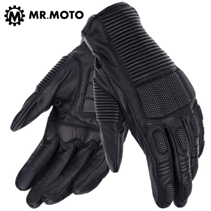 M, L, XL, XXL Guanti in pelle in fibra di carbonio traspirante moda - Accessori e parti per motocicli