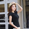Women Round Neck Short Sleeve Casual New Solid t Shirt  Sexy Tops Femmes Tees Cotton White Pink Women's tshirts Clothing