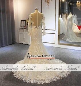 Image 5 - Nuovo modello sirena vestito con il treno staccabile abito da sposa