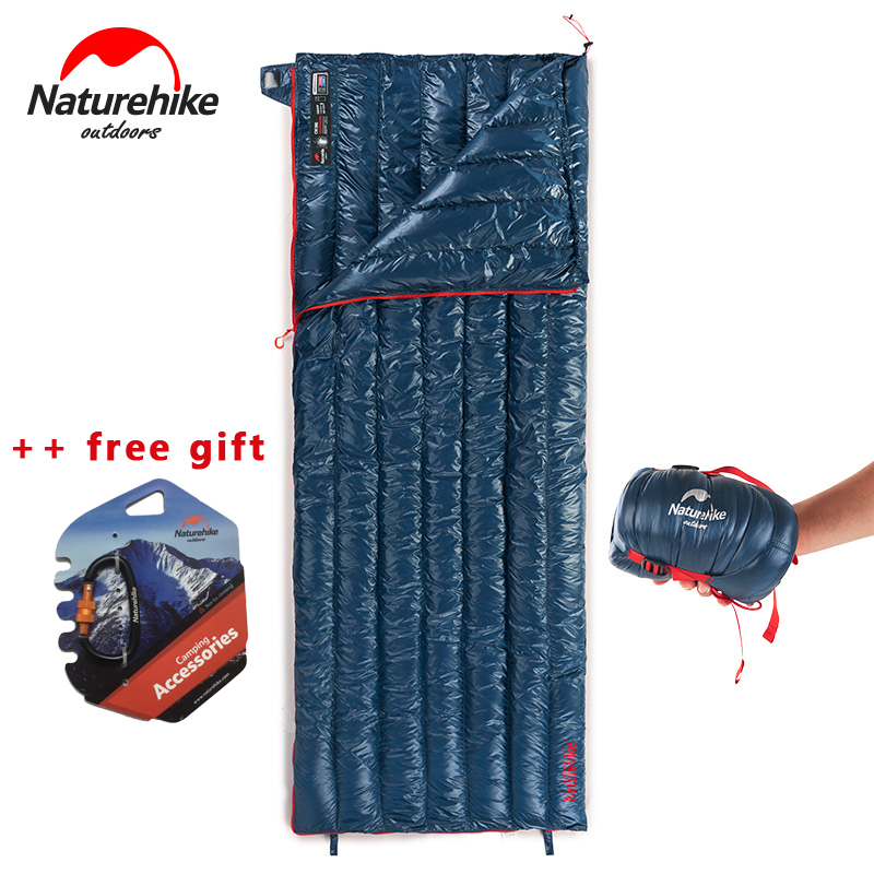 NEW NatureHike Ultralight Envelope Sleeping Bag Goose Down Lazy Bag Camping Sleeping Bags 570g NH17Y010-R naturehike goose down sleeping bag adult waterproof travel outdoor camping hiking warm winter envelope ultralight sleeping ba