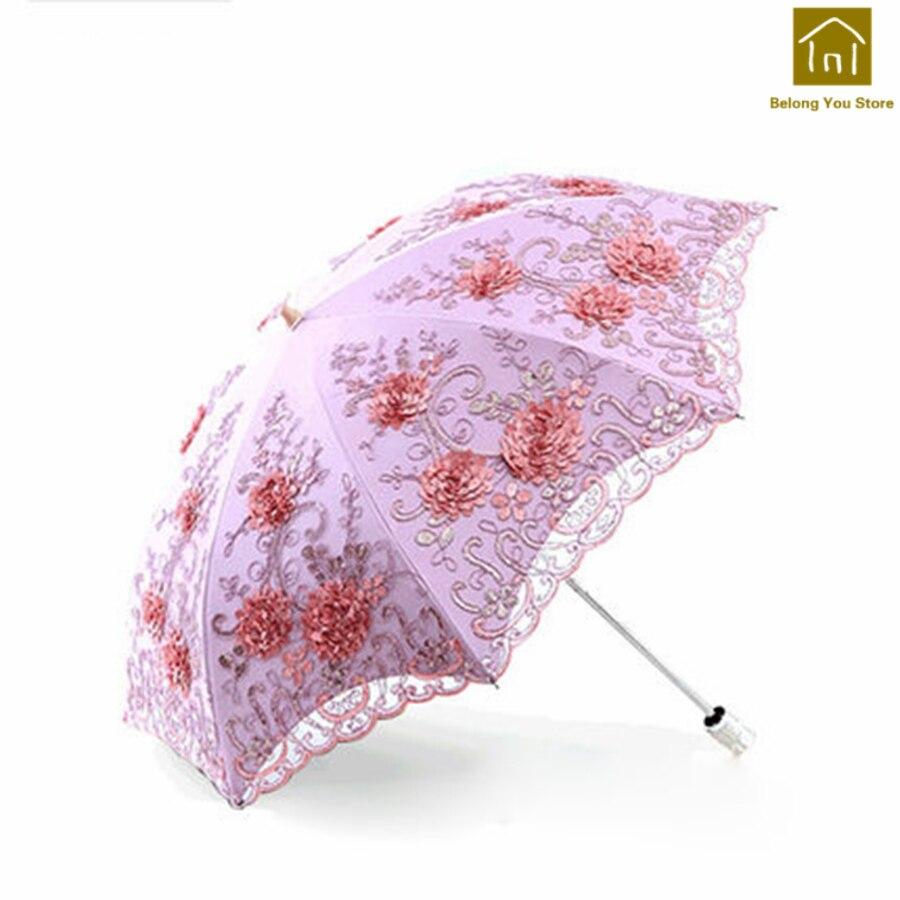 Caoutchouc créatif ensoleillé pliant parapluie femelle ombre coupe-vent parapluie poche Parasol Jardin Parasol pluie parapluies WKW104