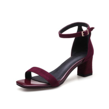 Sandalias Mujer Rushed Real Solid Sapato Feminino 2018 thembra sandale Këpucë verore Open Toe Chunky High Sandalsin The With Rough