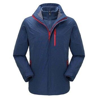 Winter Full Heat Sealing Adhesive 3 in 1 Outdoor Waterproof Soft shell Camping Jacket Men Women Thermal Skiing Windbreaker Coat