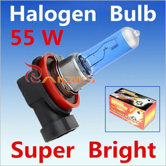 2pcs H11 55W 12V Super White...