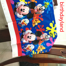 1pcs 108cm*180cm mickey mouse tablecloth favor kids girls birthday party decoration supplies table cover(China)