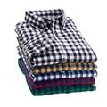 2016 hombres ocasionales camisa de hombre de alta calidad de la marca de manga larga de gran camisa a cuadros hombre camisas de vestir ( muchos colores disponibles )