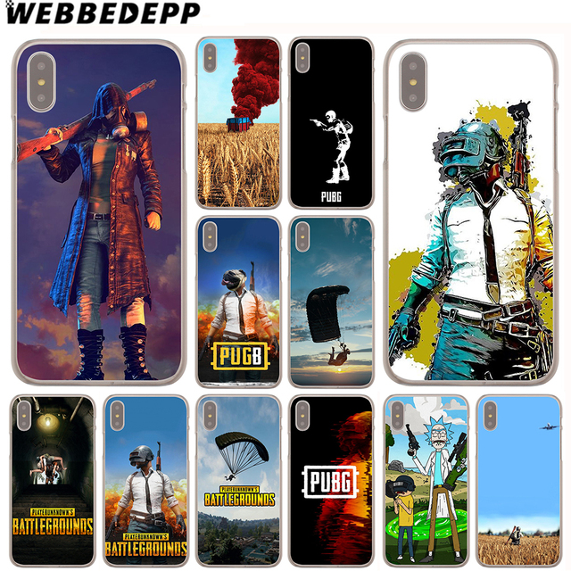 new product 61939 6a9ad US $1.99 13% OFF|WEBBEDEPP PUBG Case for Apple iPhone 4 4S 5C 5S SE 6 6S 7  8 Plus 10 X Xr Xs Max 6Plus 7Plus 8Plus-in Half-wrapped Case from ...
