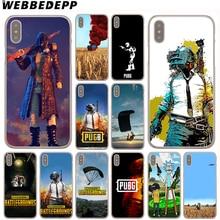 WEBBEDEPP PUBG чехол для Apple Iphone 4 4s 5C 5S SE 6 S 7 8 плюс 10 X Xr Xs Max Plus 8