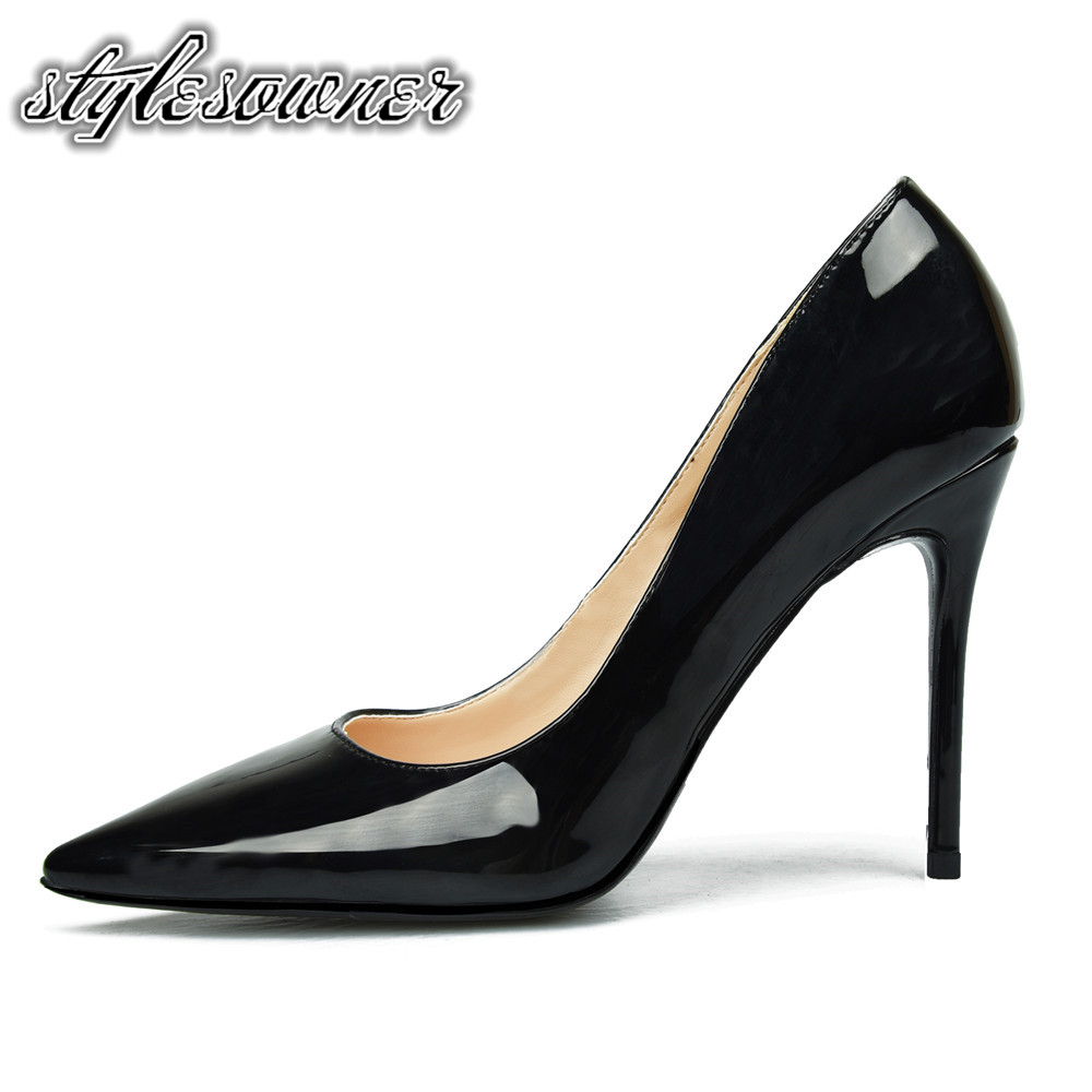 5638d2eca0 Stylesowner 2018 Original Brand Thin Heels Black Nude Color Woman Pumps  Pointed Toe Patent Leather Woman Shoes Stiletto Fashion in Pakistan