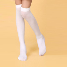 Candy color Black White Baby Kids Girls Knee High Socks Stretch Nylon Cute Solid Breathable Long
