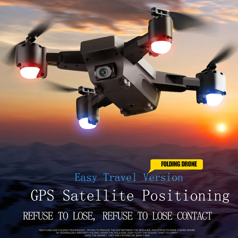 S20 FPV GPS Drone With HD 1080p Wifi Camera Quadrocopter Hovering 5MP Folding RC Quadcopters Helicopter Toy Storage Bag For Boy