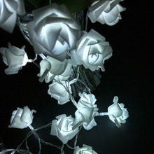 YIYANG 1.5M 10led AA Battery LED Rose Christmas Lights Holiday String Lights Valentine Wedding Decoration Flower Bulbs LED Lamp
