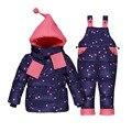 Ternos jaqueta crianças até engrossar o branco das meninas dos meninos inverno pato roupas casacos + calças da roupa do bebê terno define 5 Cores