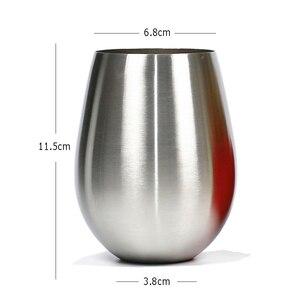 Image 5 - 500 Ml Rvs Bier Beker Wijn Tumbler Grote Bier Mok Cocktail Wijn Glazen Ei Vormige Big Cool Metalen Cup outdoor Drinkware