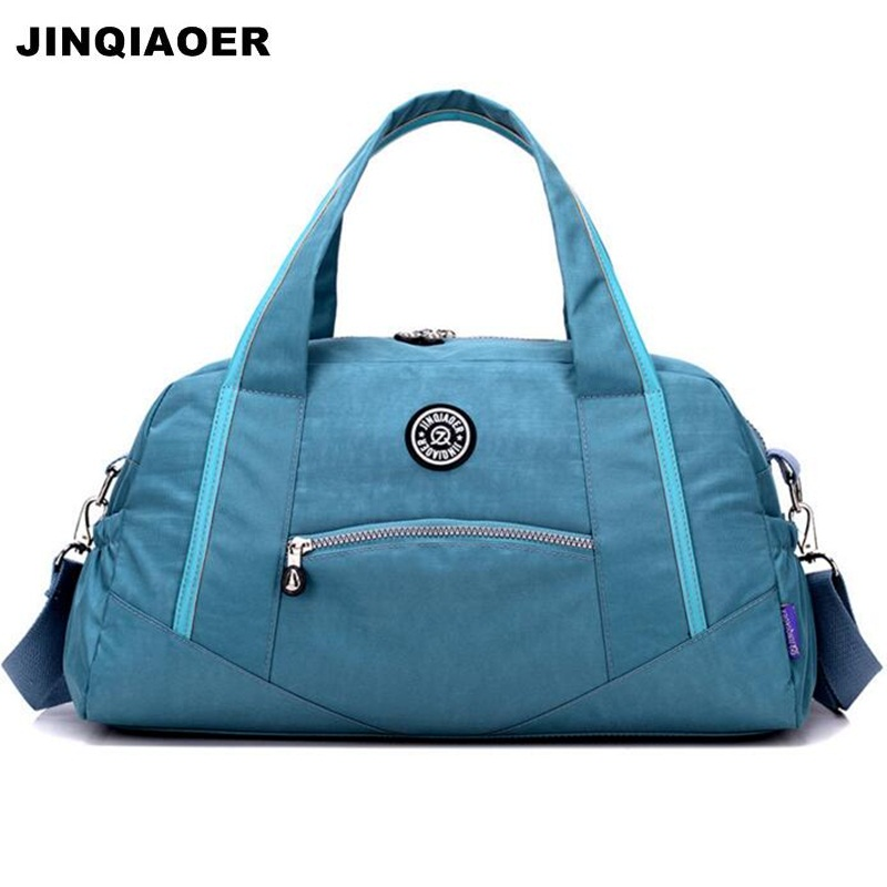 JINQIAOER Women Travel Bag Luggage Weekend Duffle Bags Large Capacity Nylon Female Tote Shoulder Bag Travel Handbag Dames Tassen