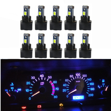 WLJH 10x Canbus T5 LED Wedge Instrument Panel 74 2721 3030SMD Speedo Gauge Cluster Light Bulb For Saab Volvo