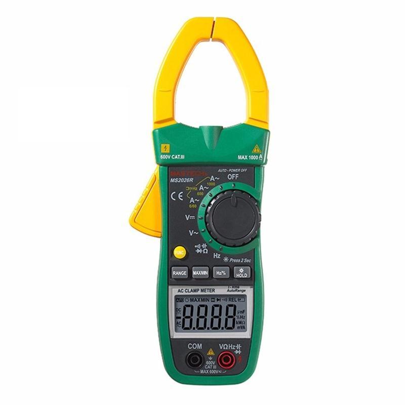 MASTECH MS2026R gamme automatique et manuelle 6000 compte pince numérique multimètre testeur AC/DC vraie mesure de température RMS ADP, Diode