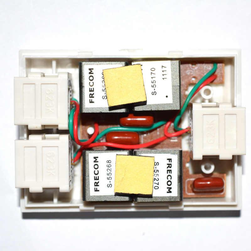 מקורי Huawei VDSL מפצל טלפון בפס רחב מסנן גל ברקים הגנה אנטי רעש 6P2C עבור ADSL מודם RJ11 מתאם
