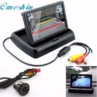 New Arrival Car Rear View 8LED Night Vision Camera 4 3 Foldable LCD Display Monitor Dr7