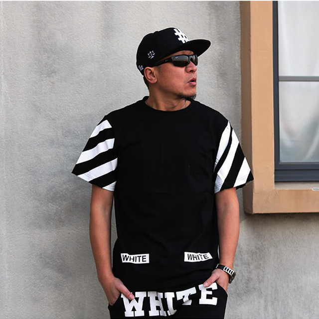 50e4d1d9219a 2015 Kanye West Off White Virgil Abloh t Shirt Men Brand Hood By Air  t-shirt Man Streetwear Hip Hop tshirt Tyga Yeezus Men TOPS